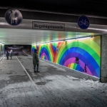 Rainbow tunnel Sweden